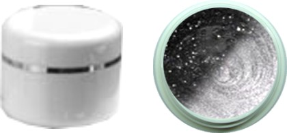 Thermo Gel Glitter Schwarz – Silber 4ml