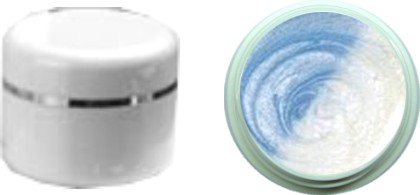 Thermo Gel Metallic hellblau – weiß 4ml