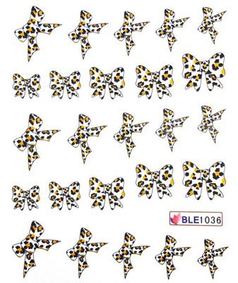 Wasserlösliche Sticker Schleifen BLE-1036