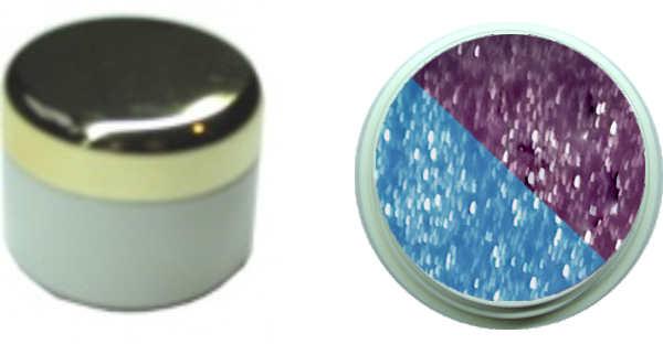 Thermo Gel Flieder Hellblau Glitter 4ml