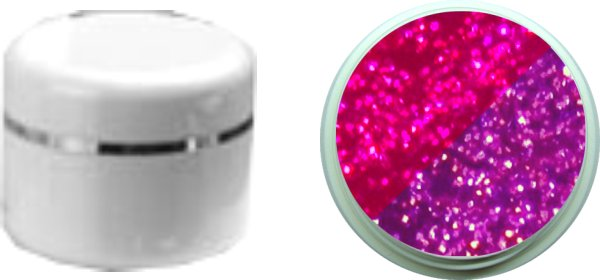 Thermo Gel Pink Flieder Glitter 4ml