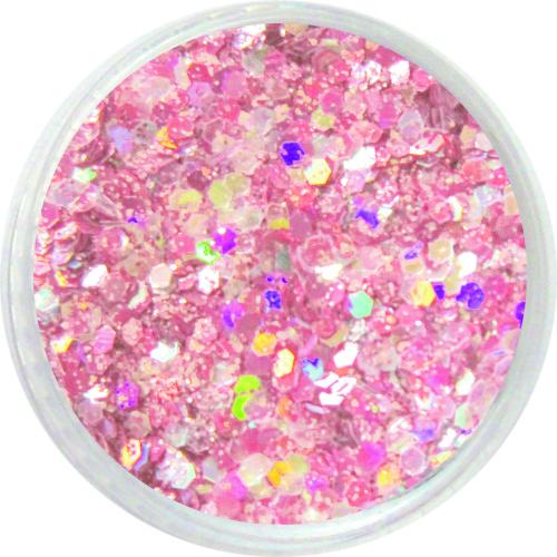 1309 – Pailetten Mix rosa silber