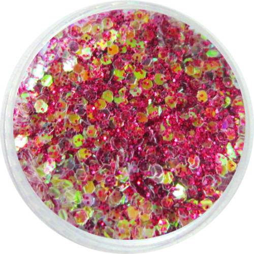 1410 – Mix Pailetten rot iris mit Glitzer