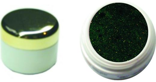 Farbgel dunkelgrün metallic 4ml