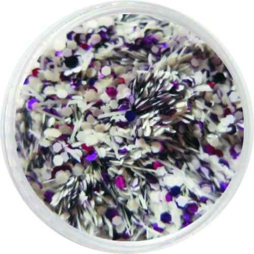 1516 – Pailetten Mix lila weiß