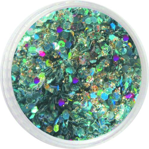 1604 – Pailetten Mix türkis silber lila