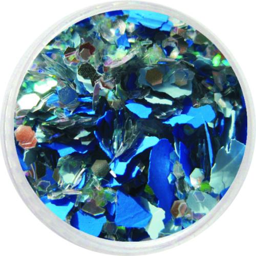 1606 – Mix Pailetten blau silber und Moros
