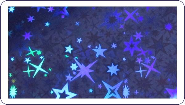 Transferfolie Blau Sterne