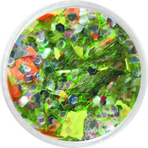 1702 – Mix Pailetten grün silber und Moros