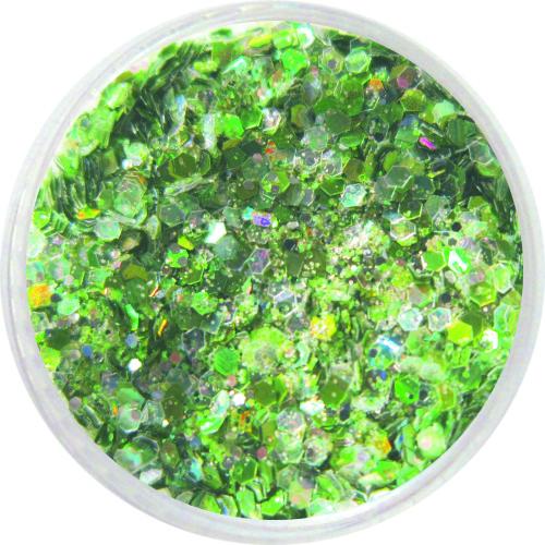 1704 – Pailetten Mix grün silber