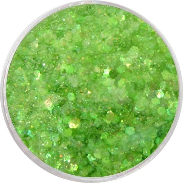 1715- Pailetten Mix neon grün mit Glitzer