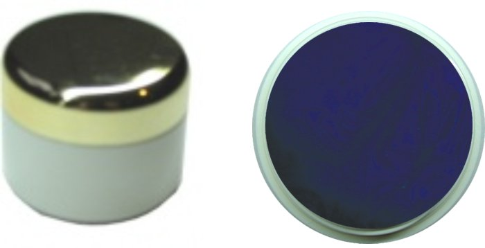 Farbgel darkblue metallic 4ml