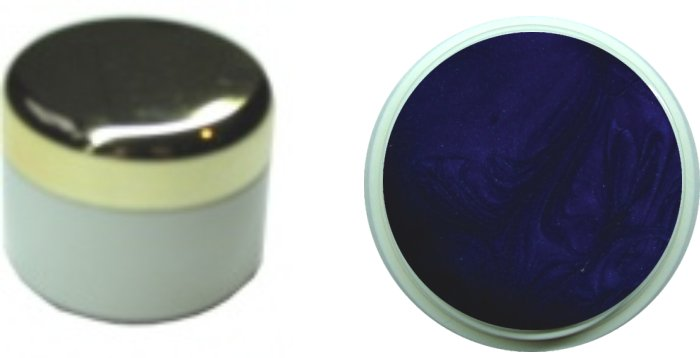 Farbgel nightblue metallic 4ml