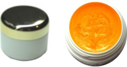 Metallic Fargel leuchtend neon mandarin 4ml
