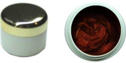 Farbgel braun metallic 4ml