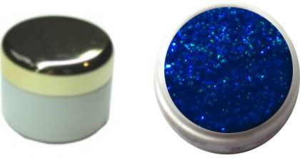 Glitzerfarbgel blau 4ml