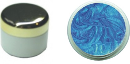Farbgel pearl blue 4ml