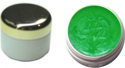 Glitzerfarbgel leuchtend neon grün 4ml