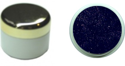 Glitzerfarbgel darkviolett 4ml