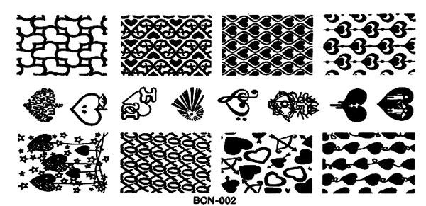 Stamping Schablone BNC02