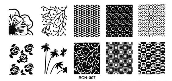 Stamping Schablone BNC-07