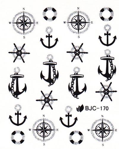 Wasserlösliche Sticker Anker BJC-170