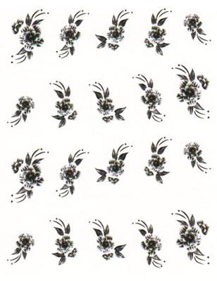 Wasserlösliche Sticker Blumen BLE-535