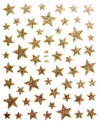 Sticker Sterne gold selbstklebend