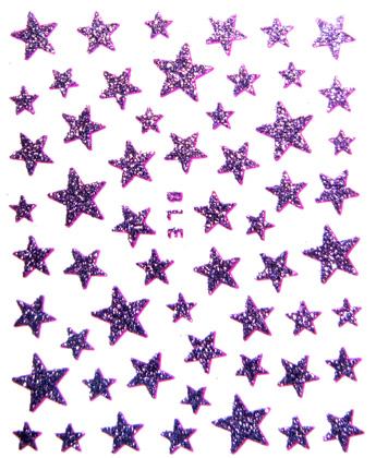 Sticker Sterne Lila