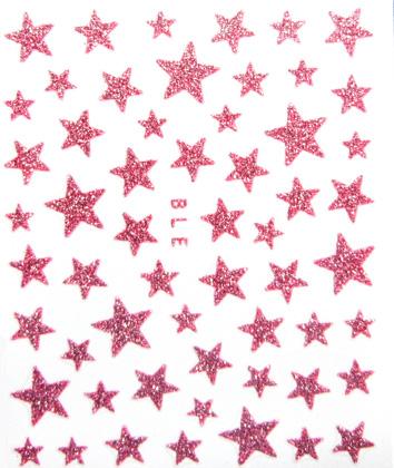 Sticker Sterne rosa selbstklebend