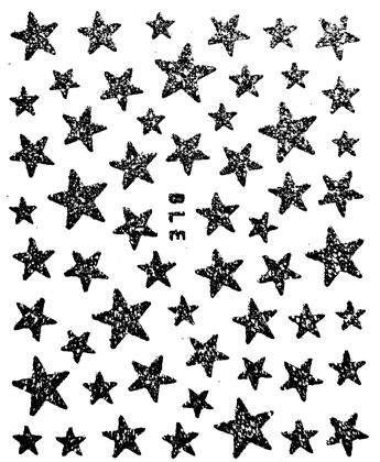 Sticker Sterne schwarz selbstklebend