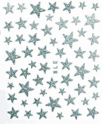 Sticker Sterne Silber selstklebend BLE