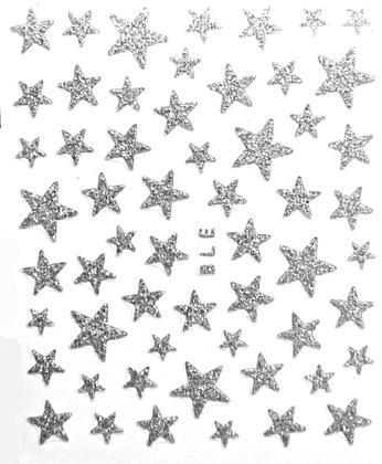 Sticker Sterne Silber