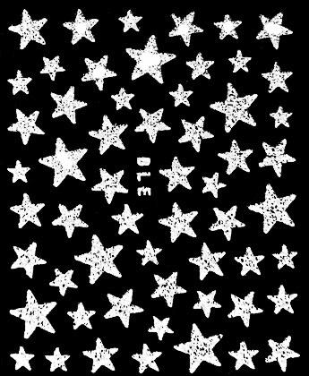 Selbstklebende Sticker Sterne weiss BLE