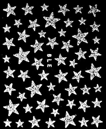 Sticker Sterne weiss