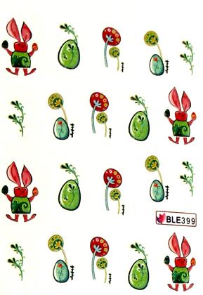 Wasserlösliche Sticker Ostern BLE-399