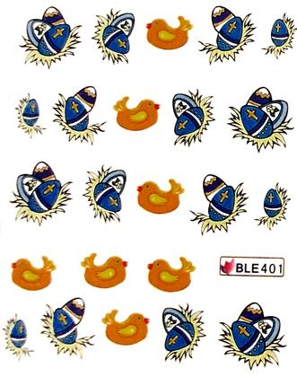 Wasserlösliche Sticker Ostern BLE-401