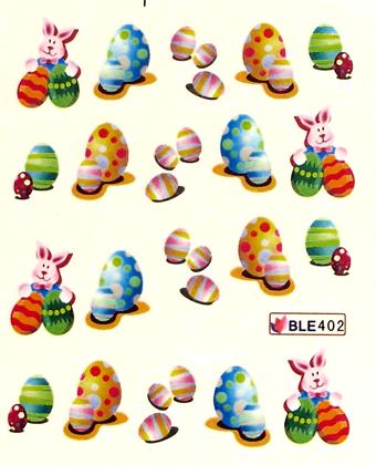 Wasserlösliche Sticker Ostern BLE-402