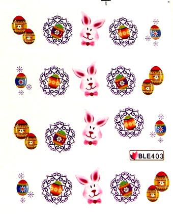 Wasserlösliche Sticker Ostern BLE-403
