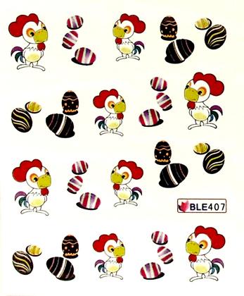 Wasserlösliche Sticker Ostern BLE-407