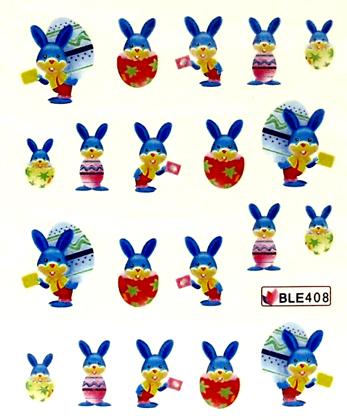 Wasserlösliche Sticker Ostern BLE-408