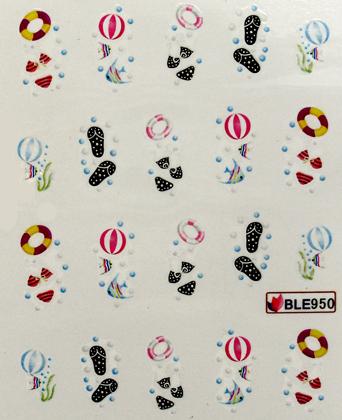 Wasserlösliche Sticker Sommer BLE-950