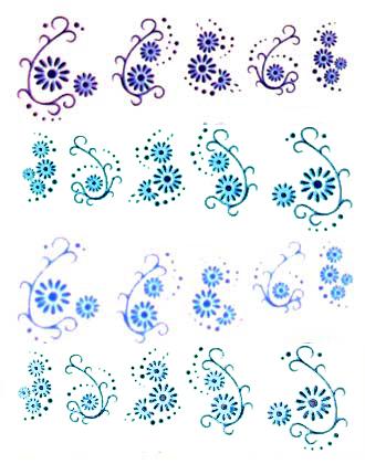 Wasserlösliche Sticker Ornamente D-108