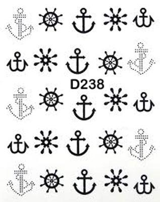 Wasserlösliche Sticker Anker D-238 schwarz