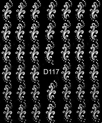 Wasserlösliche Sticker Blumen D-117 weiss