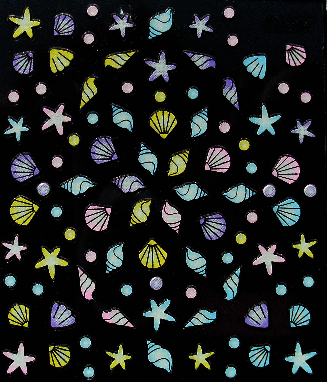 Sticker Muscheln selbstklebend DN-394