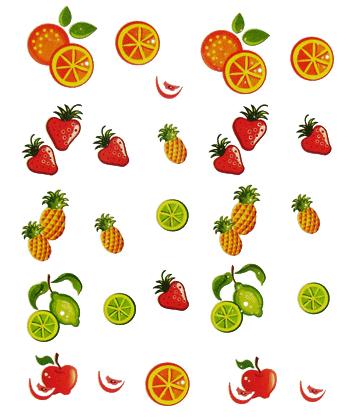 Selbstklebende Sticker Früchte E-014