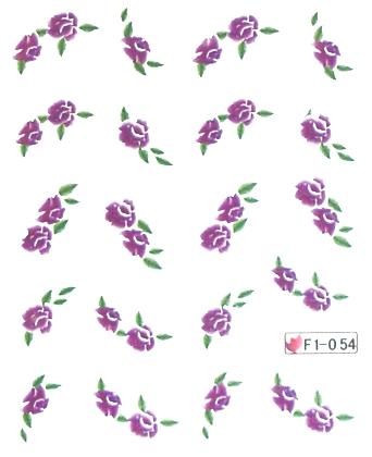 Wasserlösliche Sticker Blumen F1-054