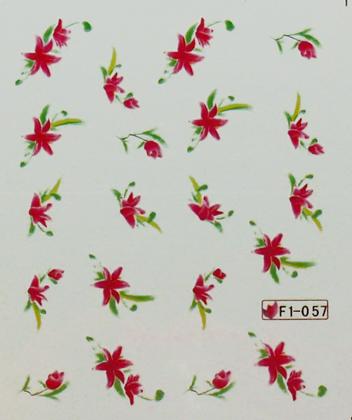 Wasserlösliche Sticker Blumen F1-057