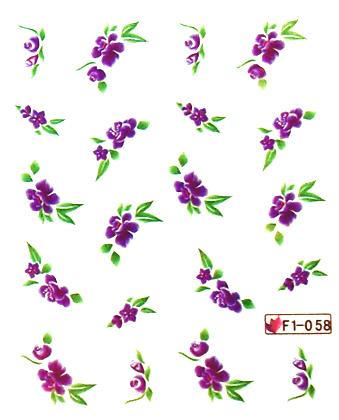 Wasserlösliche Sticker Blumen F1-058